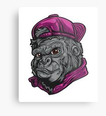 Angry Mascot design typography and fun design Metal Print