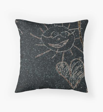 Child Drawing (Call Sun In Street) Throw Pillow