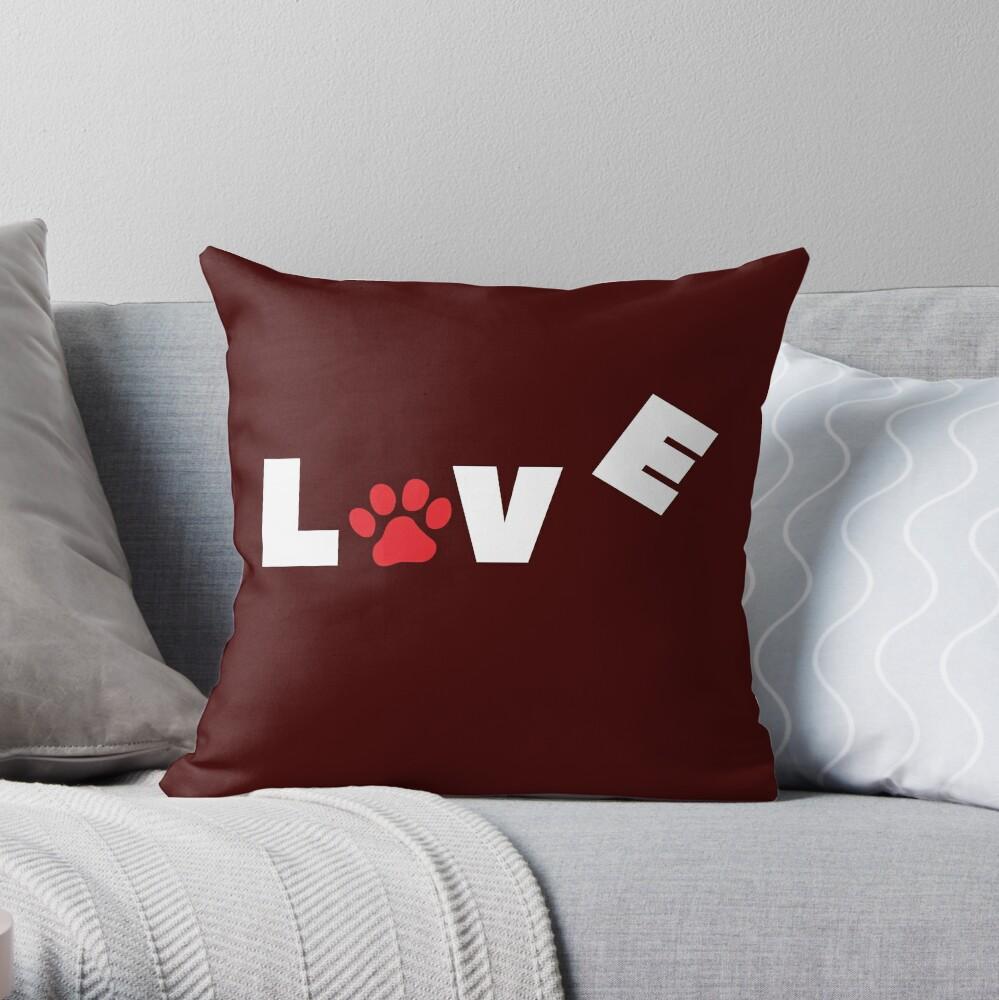 I love my dog T-Shirt & more Throw Pillow