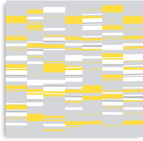 Mosaic Rectangles in Yellow Gray White #pattern #design #redbubble #decor by Menega  Sabidussi
