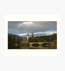 Lake Bohinj Art Print