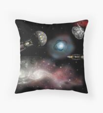 Coordinated to a parsec Throw Pillow