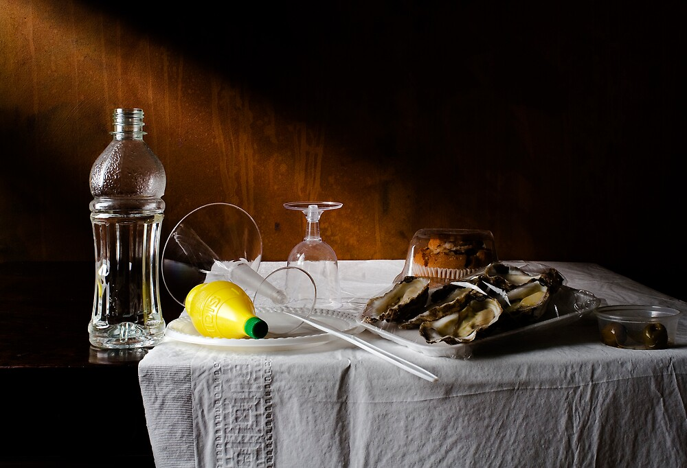 disposable life lemon and oysters by Kevin Best