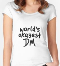 Camiseta entallada de cuello redondo El DM más correcto del mundo