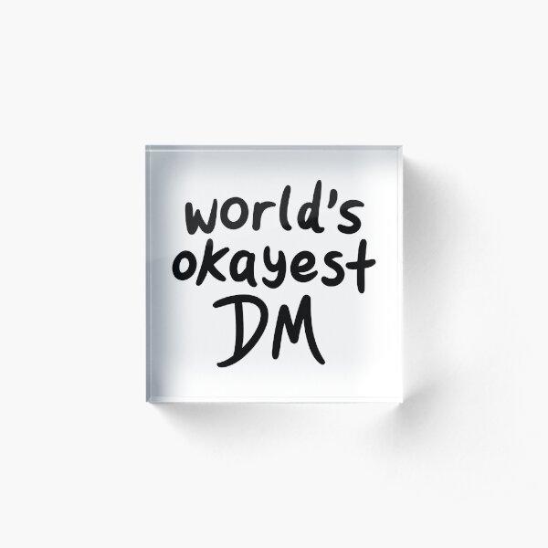 World's Okayest DM Acrylic Block