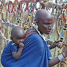 Maasai Woman  & Child,Tanzania, Africa by Adrian Paul