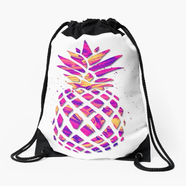 ABSTRACT PINEAPPLE ART Drawstring Bag