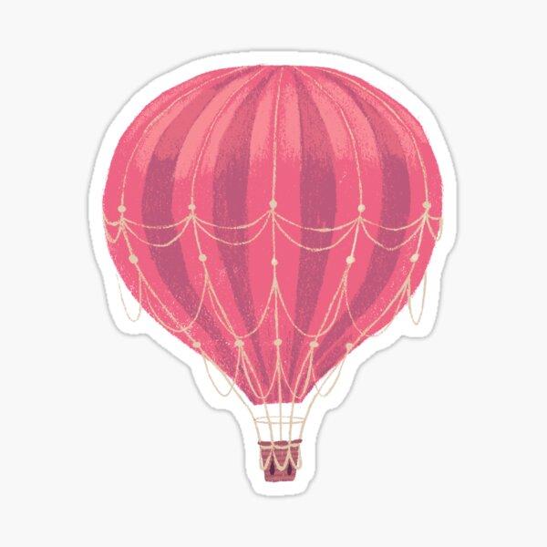 Pink Hot Air Balloon  Sticker