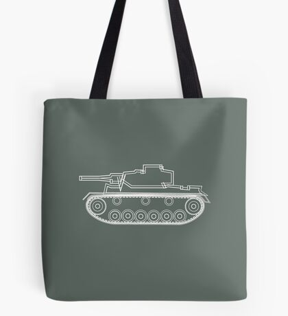 military tank silhouette funshirt for airsoft, paintball, gotcha and lasertag Tote Bag