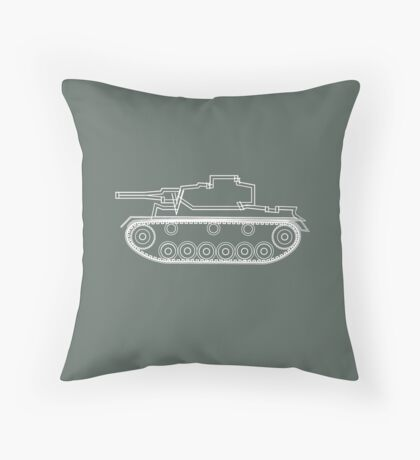 military tank silhouette funshirt for airsoft, paintball, gotcha and lasertag Throw Pillow