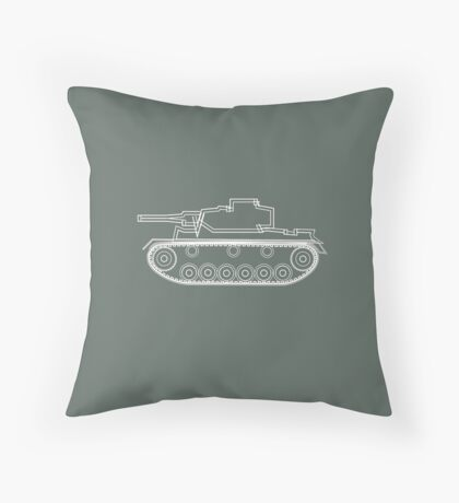military tank silhouette funshirt for airsoft, paintball, gotcha and lasertag Floor Pillow