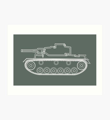 military tank silhouette funshirt for airsoft, paintball, gotcha and lasertag Art Print