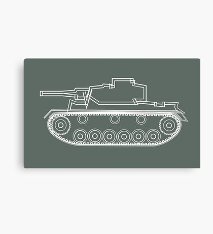 military tank silhouette funshirt for airsoft, paintball, gotcha and lasertag Canvas Print