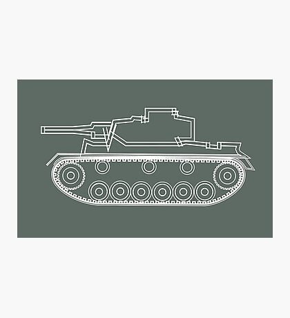 military tank silhouette funshirt for airsoft, paintball, gotcha and lasertag Photographic Print