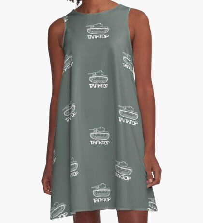 military tank silhouette funshirt for airsoft, paintball, gotcha and lasertag A-Line Dress