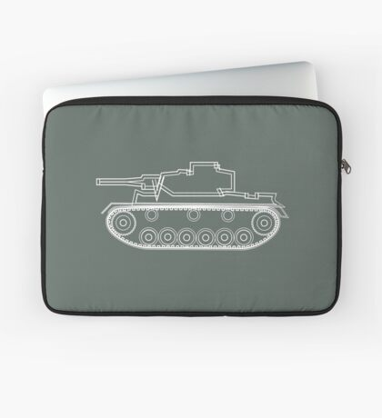 military tank silhouette funshirt for airsoft, paintball, gotcha and lasertag Laptop Sleeve
