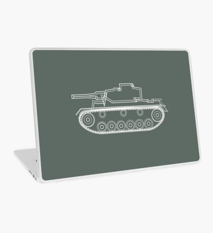 military tank silhouette funshirt for airsoft, paintball, gotcha and lasertag Laptop Skin