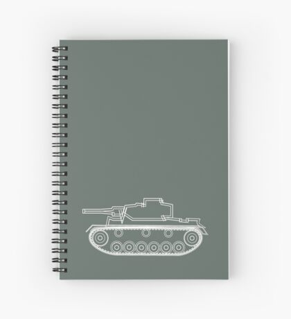military tank silhouette funshirt for airsoft, paintball, gotcha and lasertag Spiral Notebook
