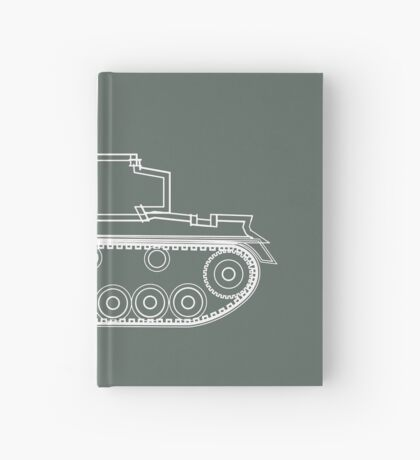 military tank silhouette funshirt for airsoft, paintball, gotcha and lasertag Hardcover Journal
