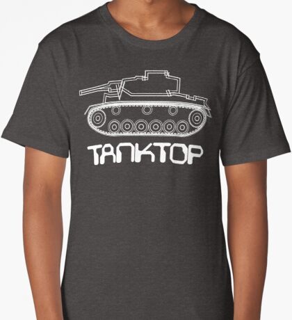 military tank silhouette funshirt for airsoft, paintball, gotcha and lasertag Long T-Shirt