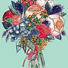 watercolor floral bouquet by Wieskunde