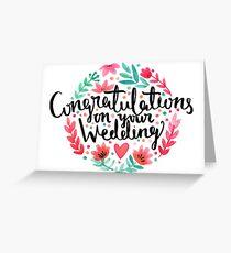 Hochzeits-Glückwünsche Grußkarte