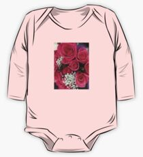 Pink Rose Bouquet One Piece - Long Sleeve