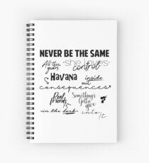 Cuaderno de espiral Canciones Camila