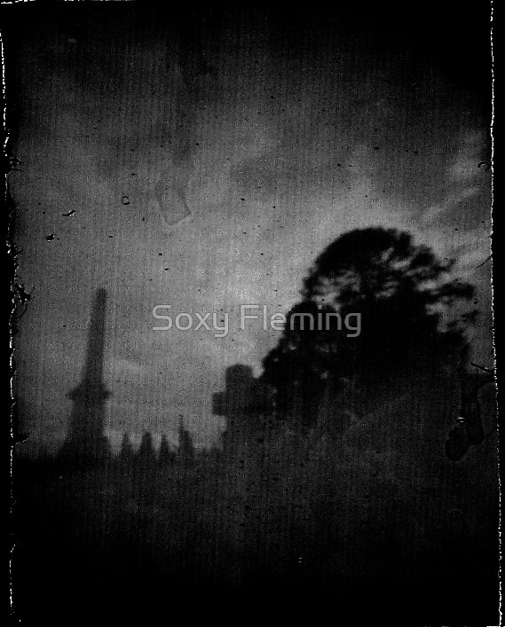 clouds in the graveyard by Soxy Fleming