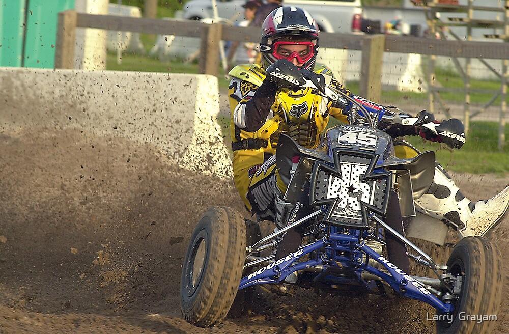 Motocross rider by Larry  Grayam