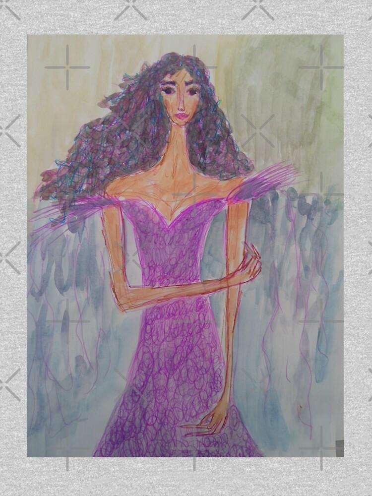 A Girl Wearing Ultraviolet Dress by IvanaKada
