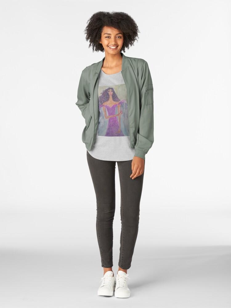 Alternate view of A Girl Wearing Ultraviolet Dress Premium Scoop T-Shirt