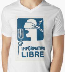 Free information Men's V-Neck T-Shirt