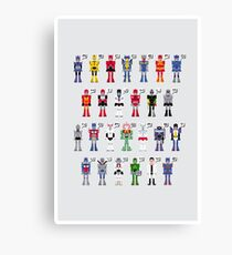 Transformers Alphabet Canvas Print