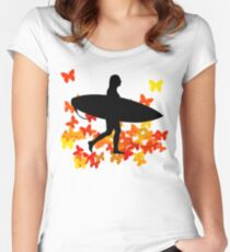 Butterfly surf - Wave rider  Women's Fitted Scoop T-Shirt