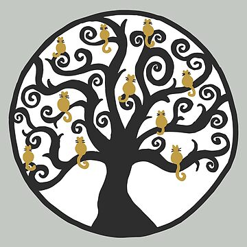Cat Tree of Life by julieerindesign