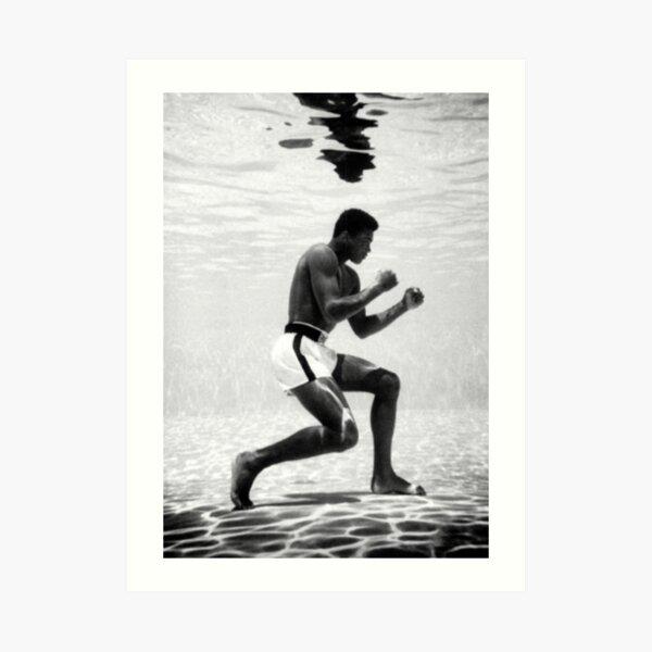 Muhammad Ali Under Water Fighting Position Art Print