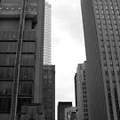 Downtown- B&W by Tracy Wazny