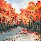 Autumn Journey - Landscape Watercolour by Brazen Design Studio