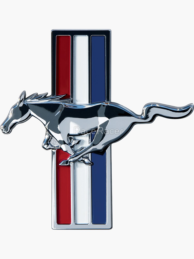 Ford Mustang Logo Sticker by PaceRacer