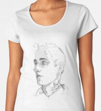 Boy with the neck tattoo Women's Premium T-Shirt
