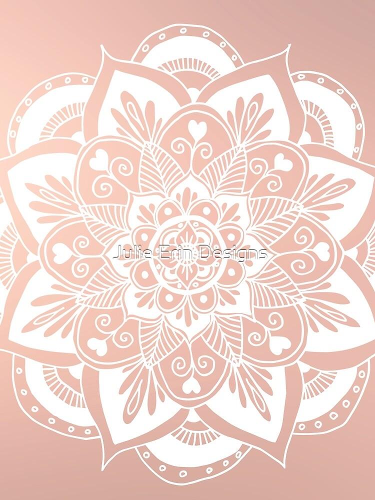 Blumenmandala auf Rosengold von julieerindesign