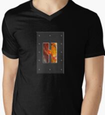 Capital letter H of the fluid art alphabet in concrete Men's V-Neck T-Shirt