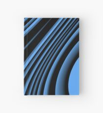 Black and blue arc Hardcover Journal