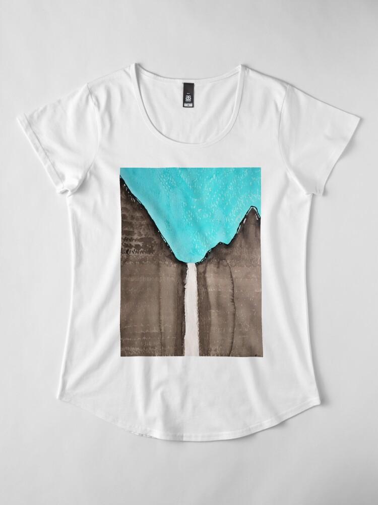 Alternative Ansicht von Original Gemälde von Bridalveil Fall Premium Rundhals-Shirt