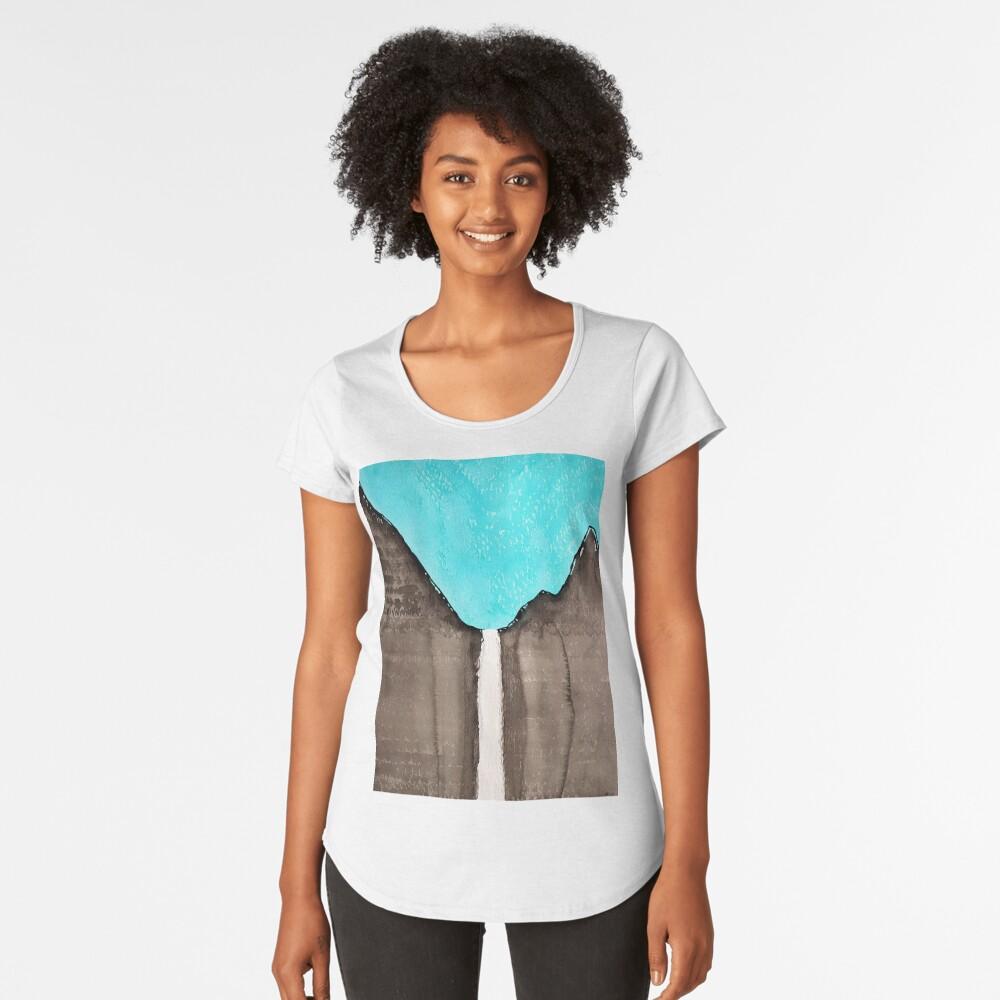 Original Gemälde von Bridalveil Fall Premium Rundhals-Shirt
