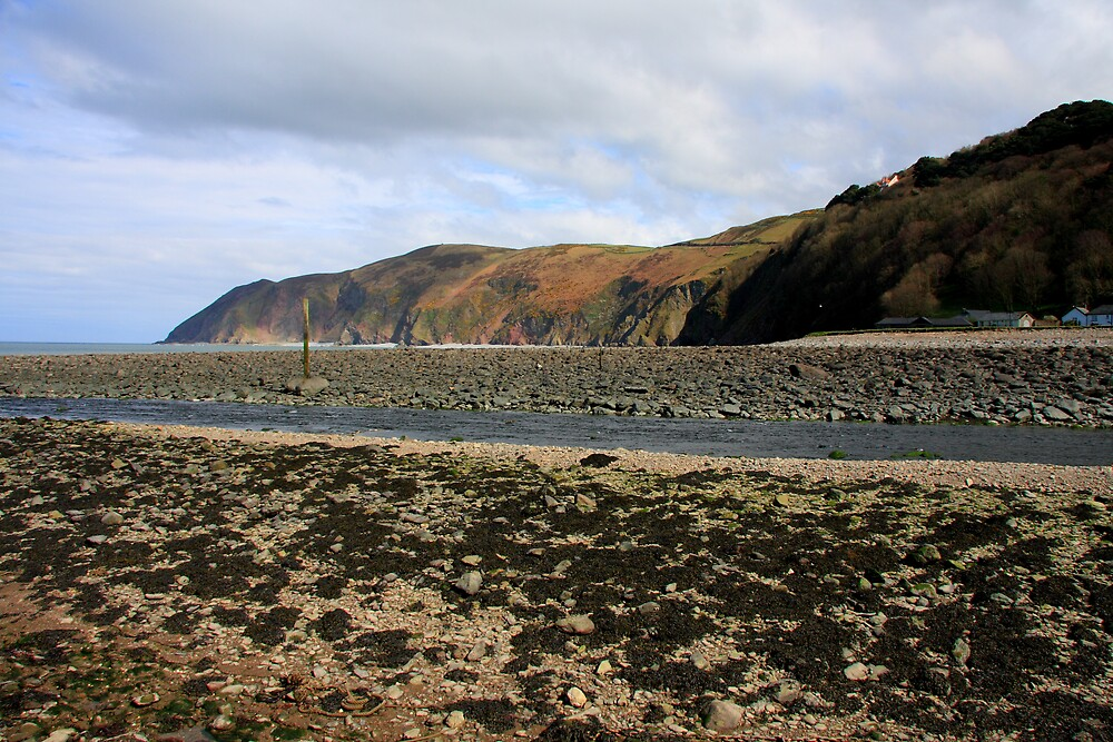 Lynmouth Beach V by Dave Law
