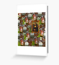 REBUS Art-Tea-Fish-Shell Greeting Card