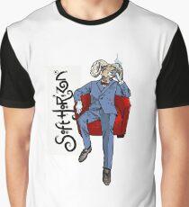Soft Horizon Relaxed God Graphic T-Shirt
