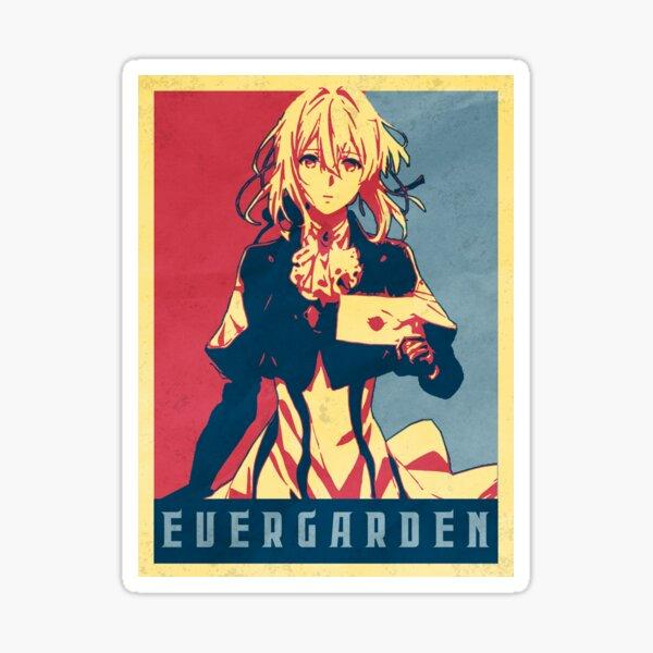 Violet Evergarden - Political Anime Poster Shirt Sticker